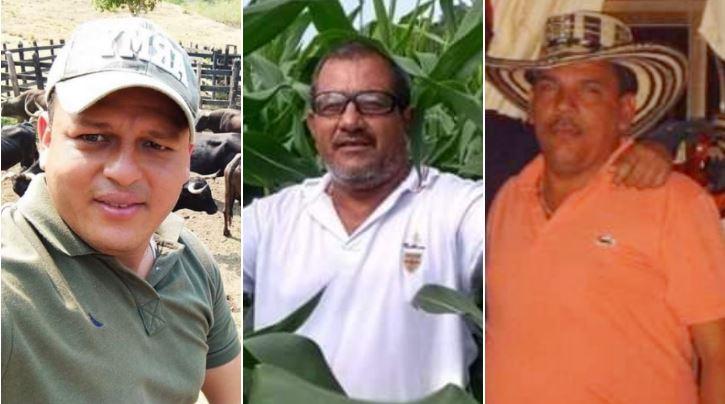 Las tres víctimas mortales.