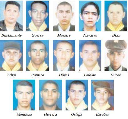 Los uniformados se desplazaban a bordo de un camión con destino al corregimiento de Atánquez, cuando cayeron en un campo minado sembrado por las Farc.