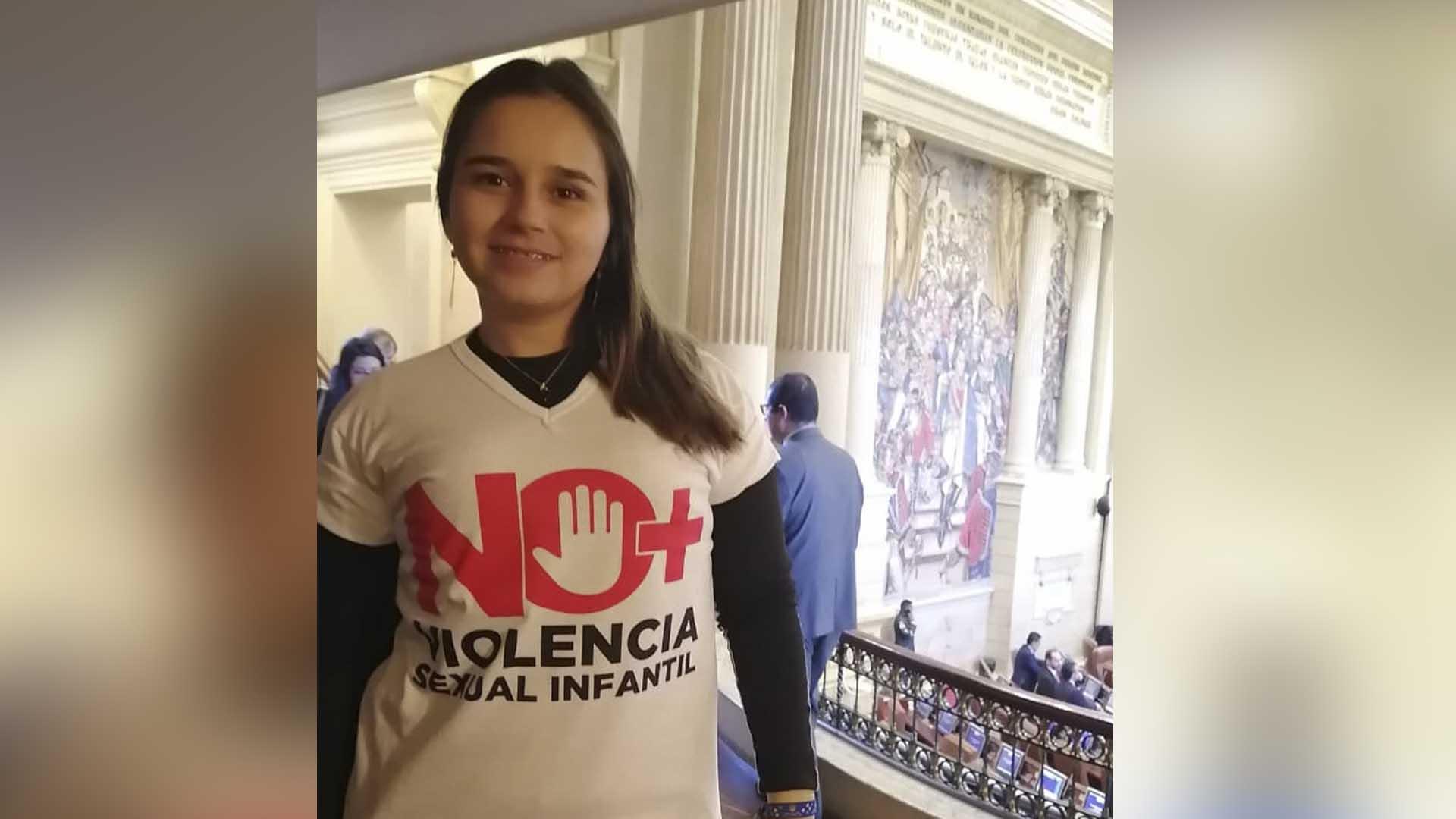 Lorena en una actividad en el Congreso.