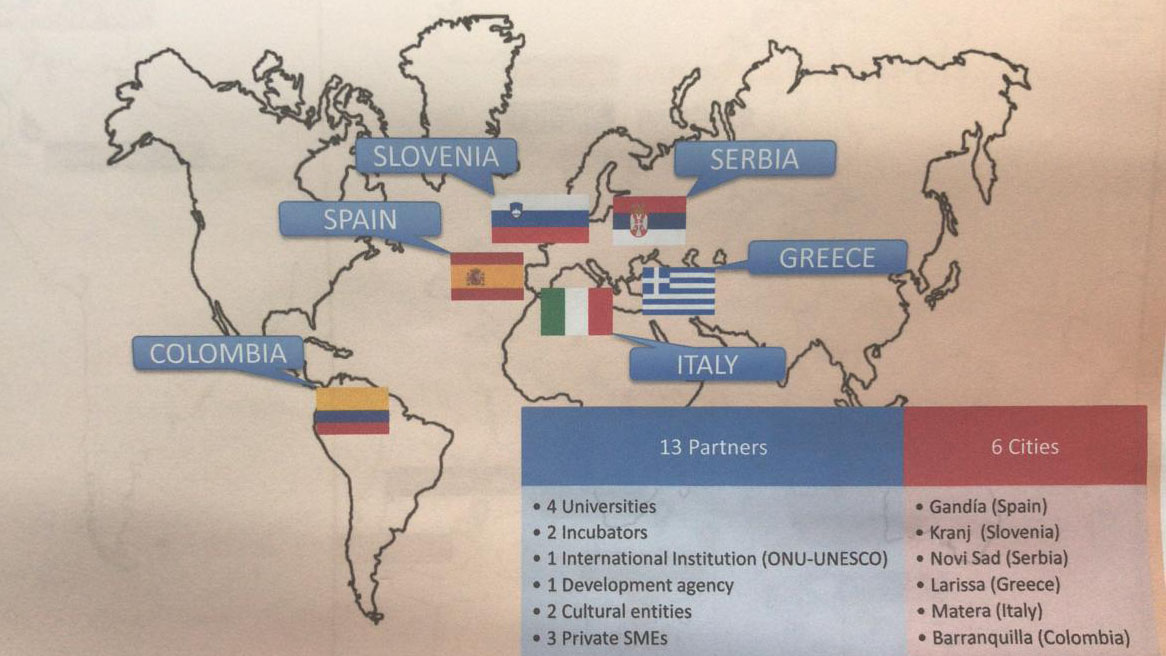 Mapa de la Unión Europea de 'O-City'