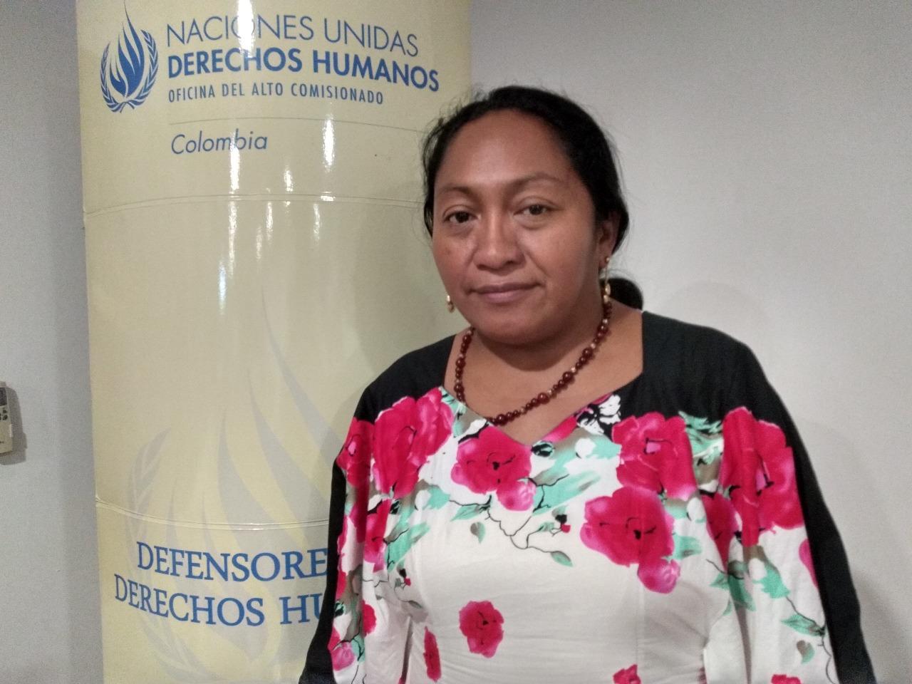 Jackeline Romero Epiayu, lideresa Wayuu.