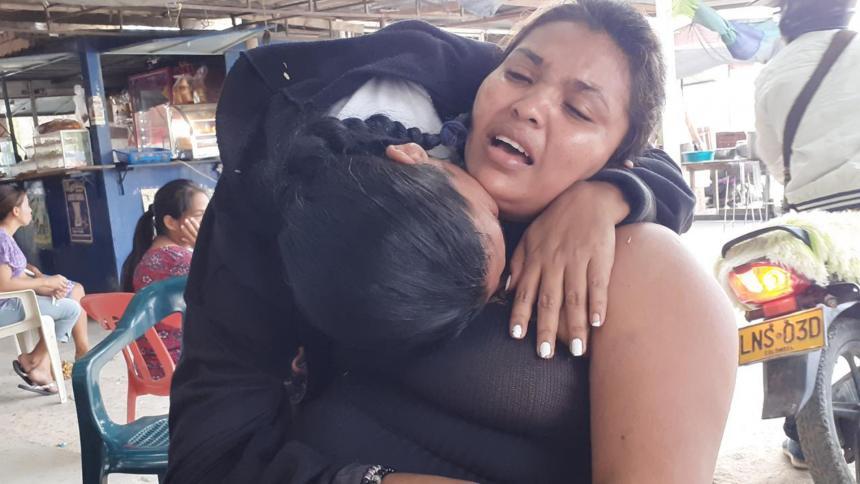 Eva Sandrith Retamozo, madre del niño asesinado.
