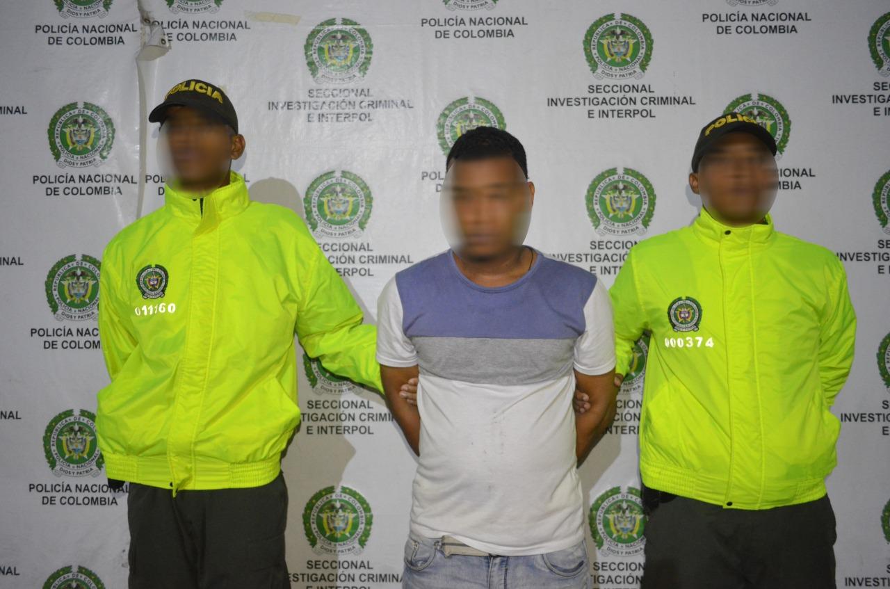 Alias 'el Monito', capturado por la Policía Metropolitana de Cartagena